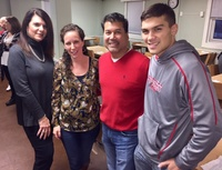 Moonjumpers Thanksgiving for the Veterans at the Beacon House - Lisa Biolsi, Alanna Russo, Keith Samaroo & Cole Samaroo