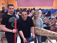 2017 Project TOY Holiday Gift Wrapping Event - Mike Russo & Family - National Grid