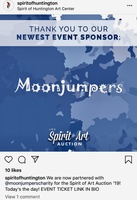 Moonjumpers support The Spirit of Huntington Art Center