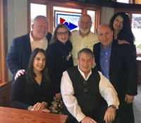 Moonjumpers support the Huntington Rotary Club & Huntington YMCA - Rob Benson, Carineh Mendez, Vita Scaturro, Ray Homburger, Pete Hornick, Jimmy Hoops & Lisa Biolsi
