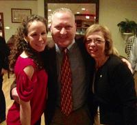 Alanna Russo of the Huntington YMCA along with Rob Benson & Vita Scaturro of the Moonjumpers