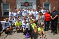 Moonjumpers Volunteers at the Salvation Army Building of Northport
