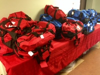 Care Packages donated by the Huntington YMCA