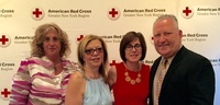 Red Cross Event - Leadership Huntington - Dorian Stern, Vita Scaturro, Stephanie Gotard & Rob Benson